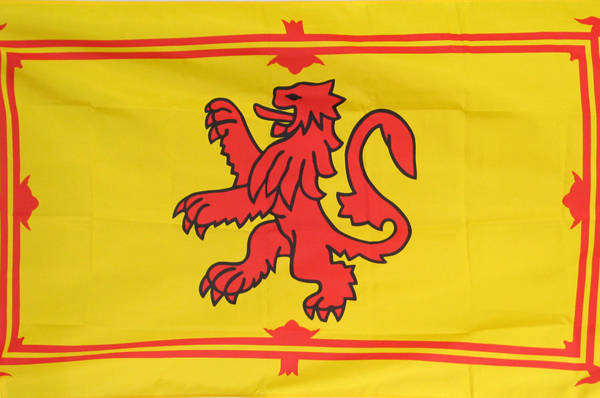 Scottish Flag (Royal Standard) at the Ballroom