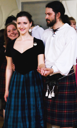 Anastasiia Gavryliuk at the Moscow Scottish Ball