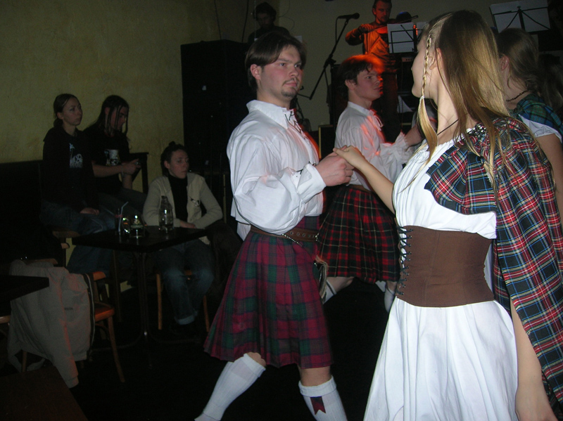 "Scottish party at the ""Bochka"""