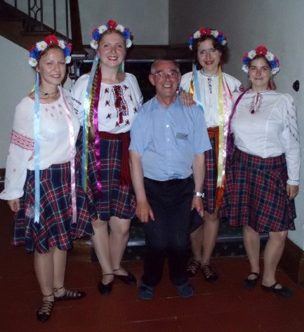 With John Wilkinson after the ceilidh