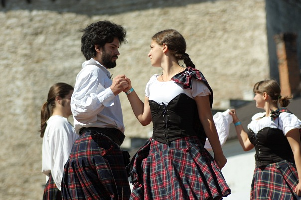 A demo dance in Medzhybizh